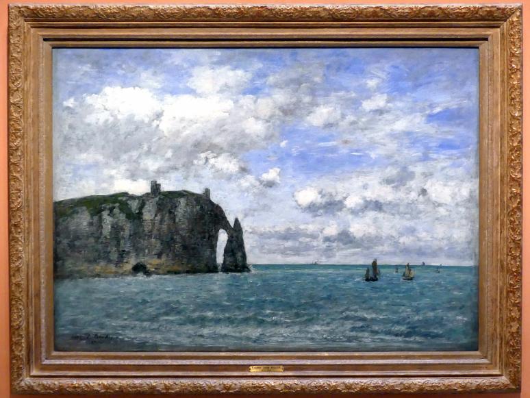 Eugène Boudin: Étretat. Das Aval Cliff, 1890