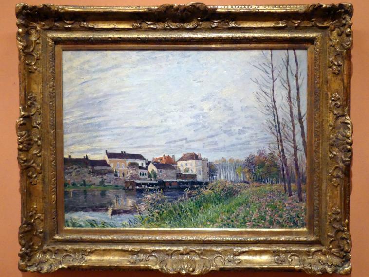 Alfred Sisley: Abend in Moret, Ende Oktober, 1888
