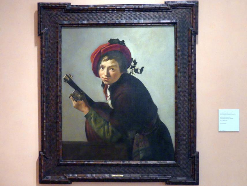 Jan Gerritsz van Bronckhorst: Junger Mann Theorbe spielend, um 1642 - 1645