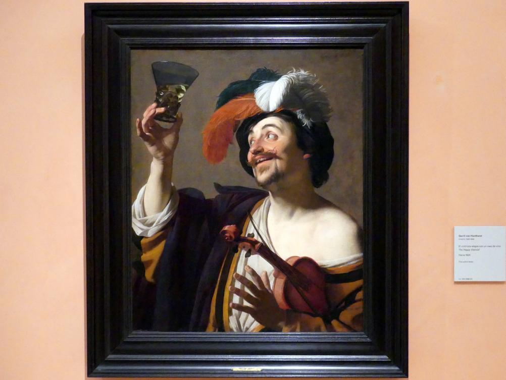 Gerrit van Honthorst (Gerard van Honthorst): Der glückliche Violinist, Um 1624