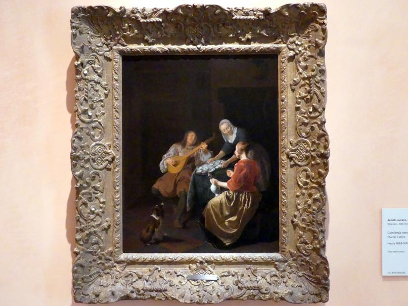 Jacob Lucasz Ochtervelt: Austern essen, um 1665 - 1669