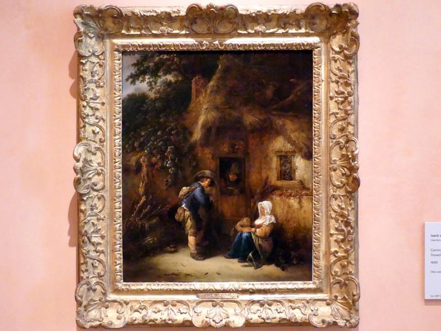 Isaac van Ostade: Reisende am Hütteneingang, 1649