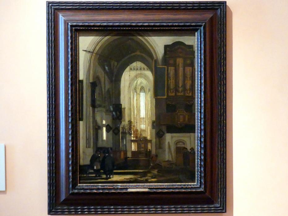 Emanuel de Witte: Interieur einer gotischen Kirche, um 1669