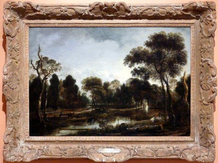 Aert van der Neer: Bewaldete Flusslandschaft, um 1645