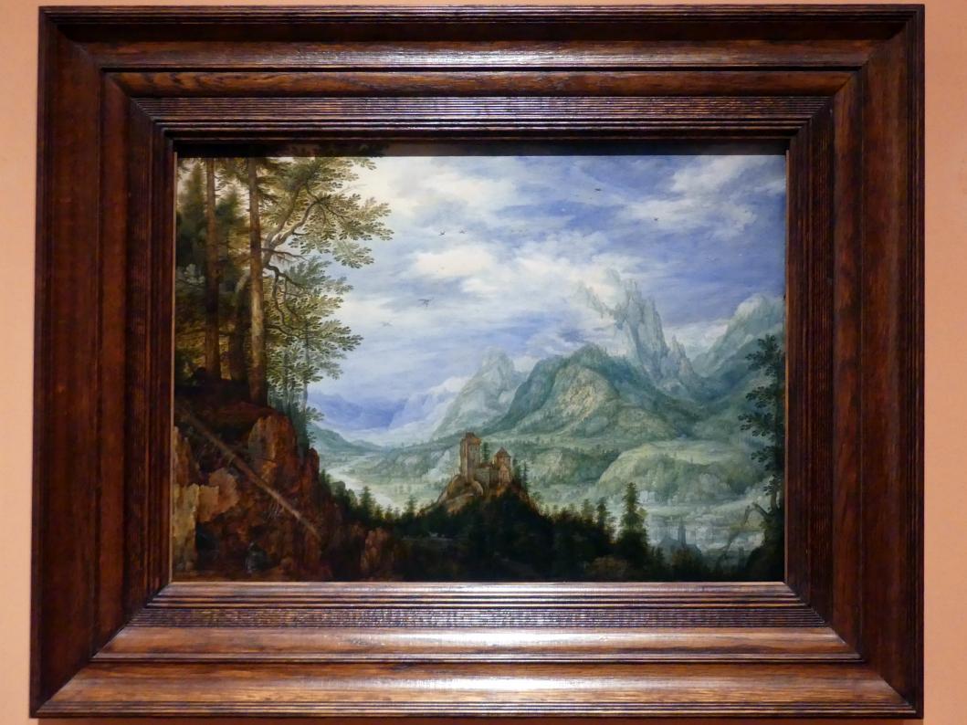 Roelant Savery: Gebirgslandschaft mit Burg, 1609