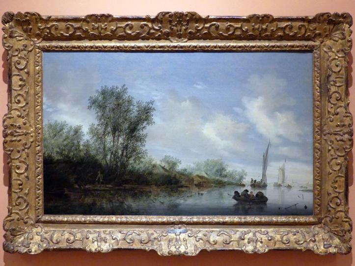 Salomon van Ruysdael: Fluss mit Fischern, 1645