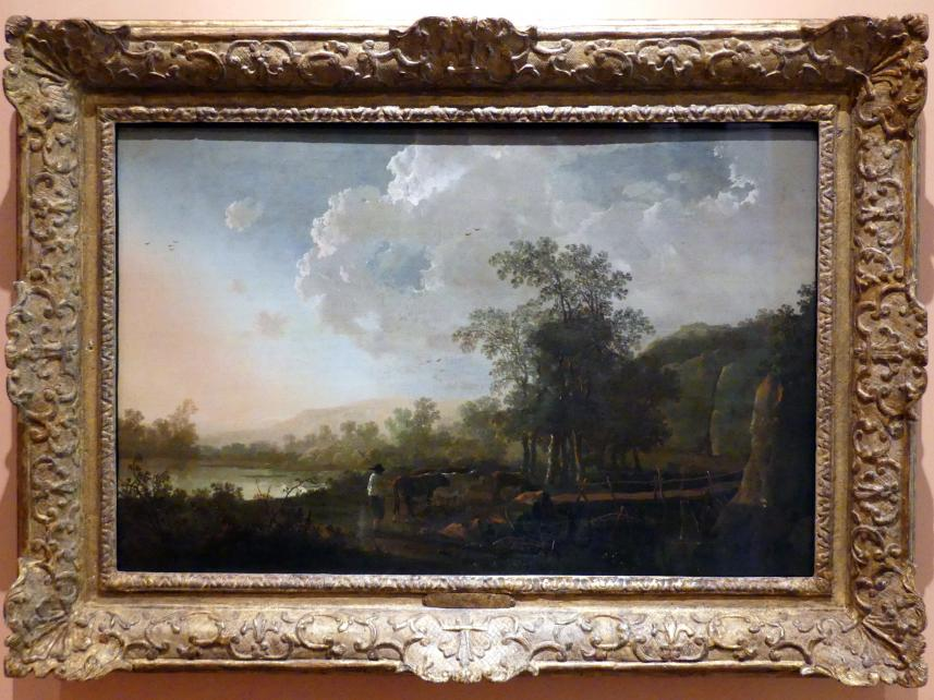 Aelbert Cuyp: Landschaft bei Sonnenuntergang, um 1655
