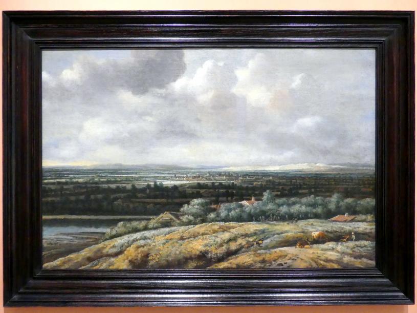 Philips Koninck: Landschaftspanorama mit einer Stadt im Hintergrund, 1655