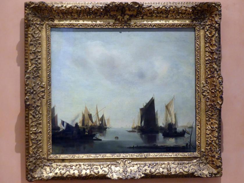 Jan van de Cappelle: Küstenszene mit Segelschiffen, 1655 - 1660