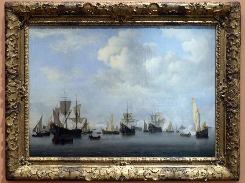Willem van de Velde der Jüngere: Die niederländische Flotte in Goeree, um 1672 - 1673