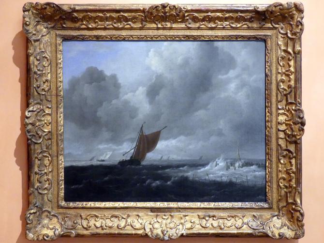 Jacob van Ruisdael: Stürmische See mit Segelbooten, um 1668