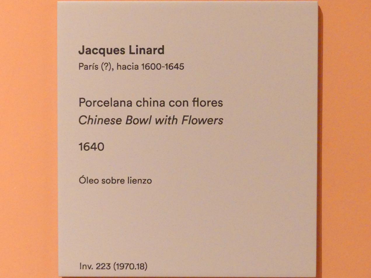 Jacques Linard: Chinesische Schüssel mit Blumen, 1640, Bild 2/2