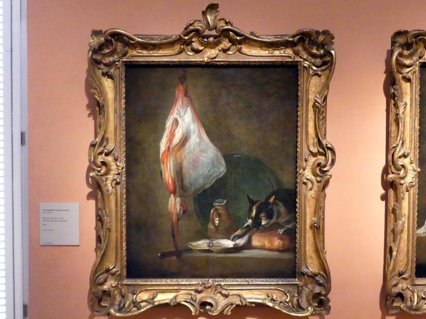 Jean Siméon Chardin: Stillleben mit Katze und Rochen, 1728