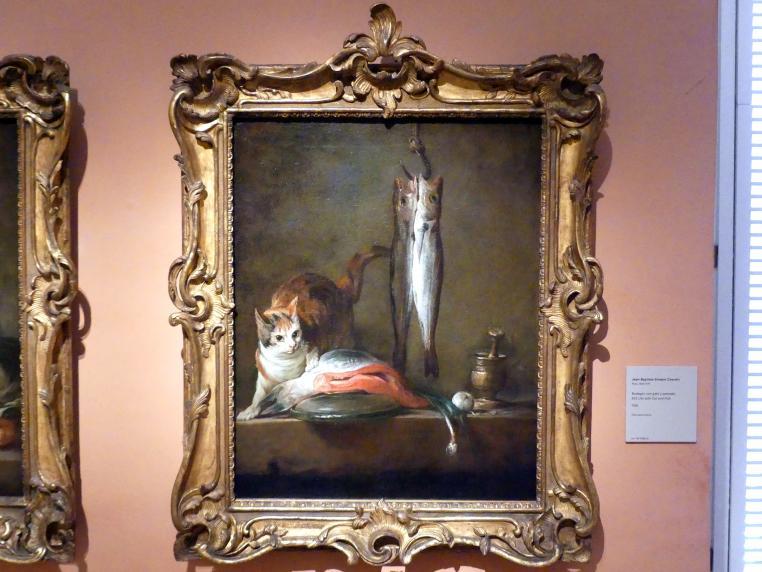 Jean Siméon Chardin: Stillleben mit Katze und Fisch, 1728