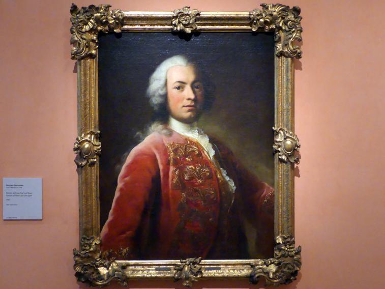George Desmarées: Porträt des Franz Carl von Soyer, 1750