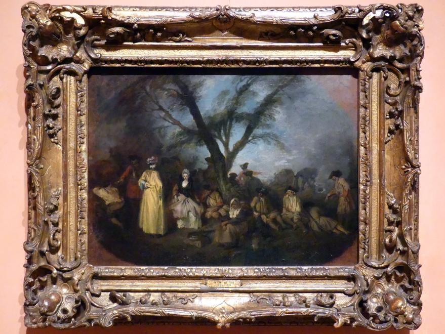 Antoine Watteau (Jean-Antoine Watteau): Die Rast, um 1709
