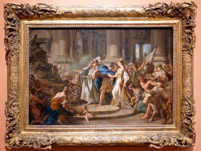 Jean François de Troy: Iason und Medea im Tempel des Jupiter, um 1745