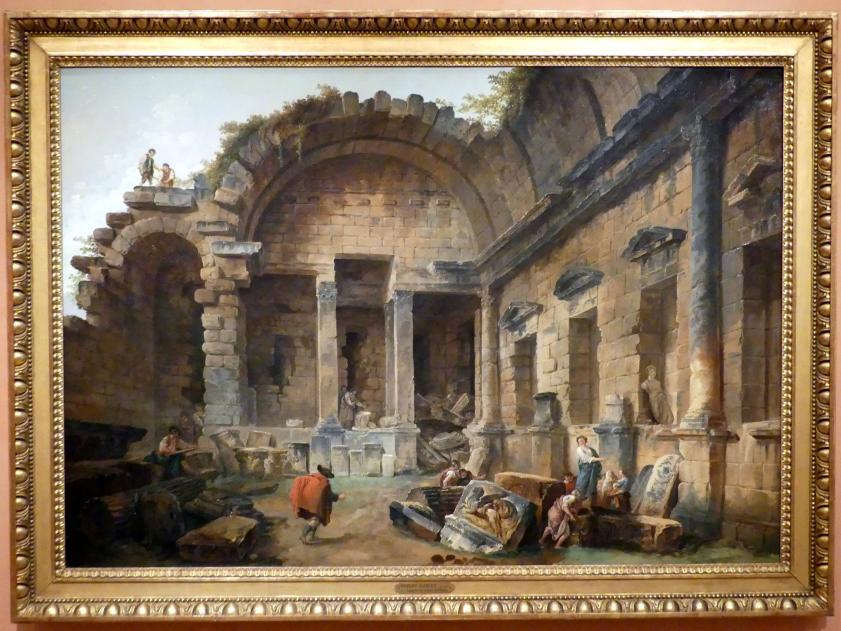 Hubert Robert: Interieur des Dianatempels in Nîmes, 1783