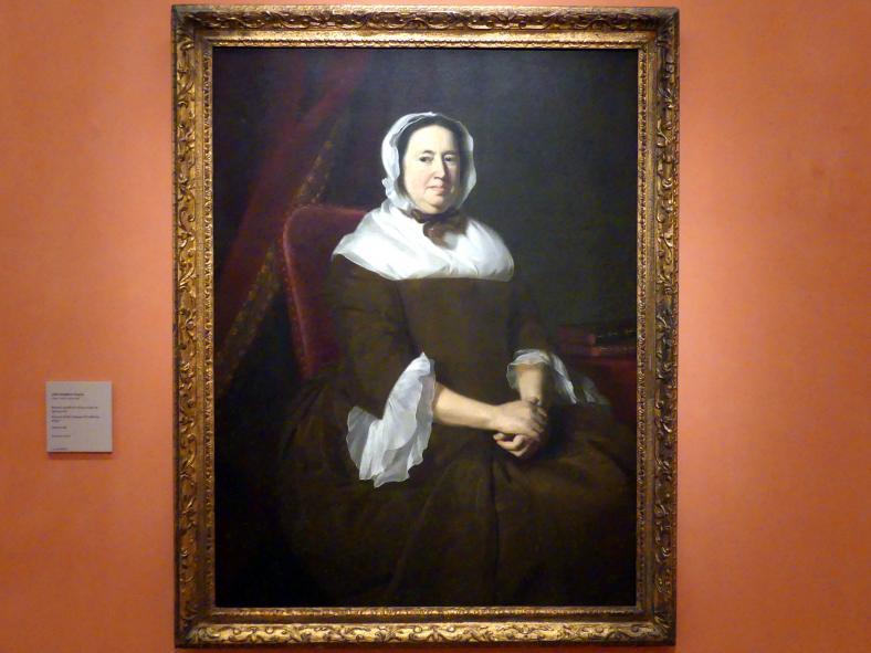 John Singleton Copley: Porträt von Miriam Kilby, Ehefrau von Samuel Hill, um 1764