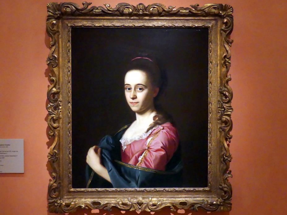 John Singleton Copley: Porträt von Catherine Hill, Ehefrau von Joshua Henshaw II, um 1772