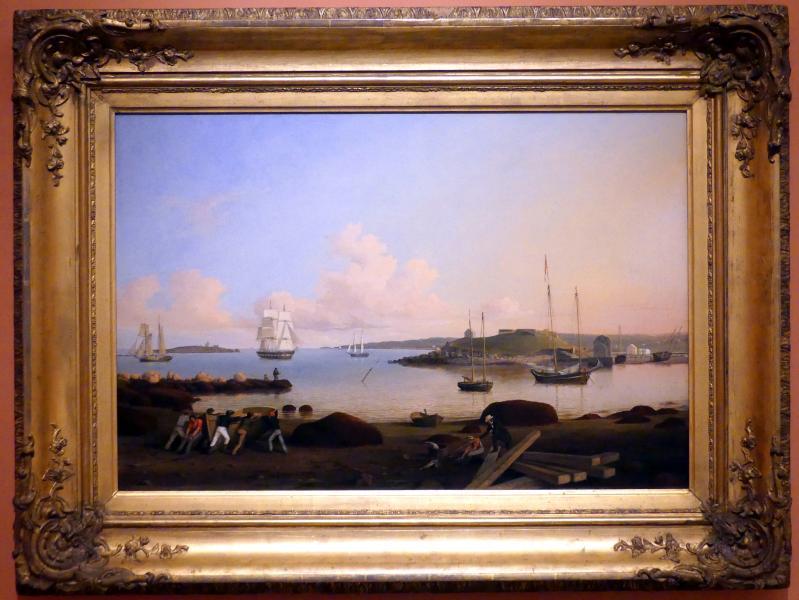 Fitz Henry Lane (Fitz Hugh Lane): Die Festung und Ten Pound Island, Gloucester, Massachusetts, 1847