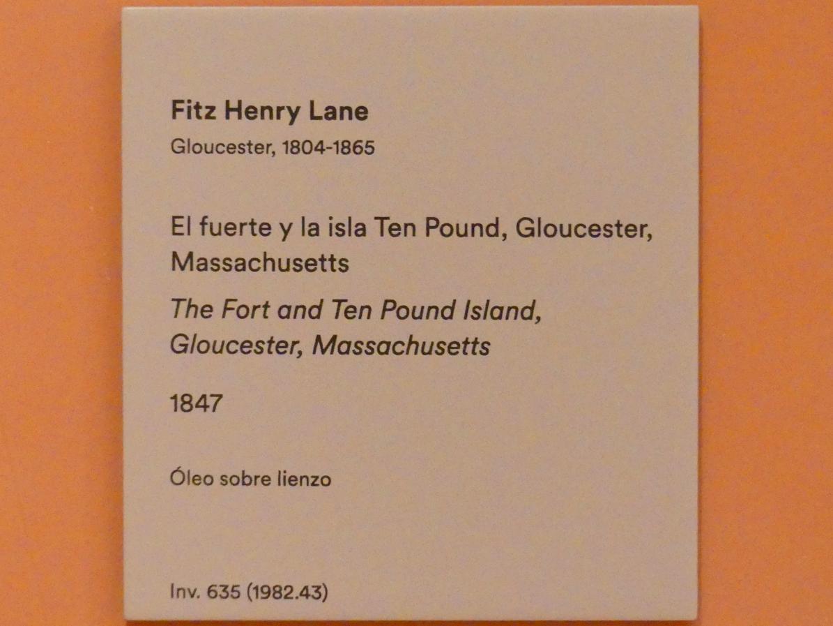 Fitz Henry Lane (Fitz Hugh Lane): Die Festung und Ten Pound Island, Gloucester, Massachusetts, 1847, Bild 2/2