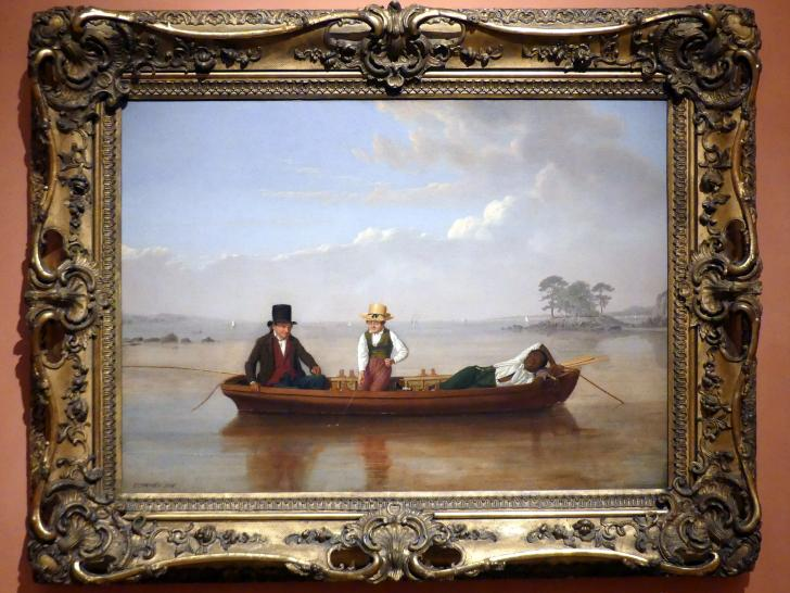 James Goodwyn Clonney: Angelpartie in Long Island Sound bei New Rochelle, 1847