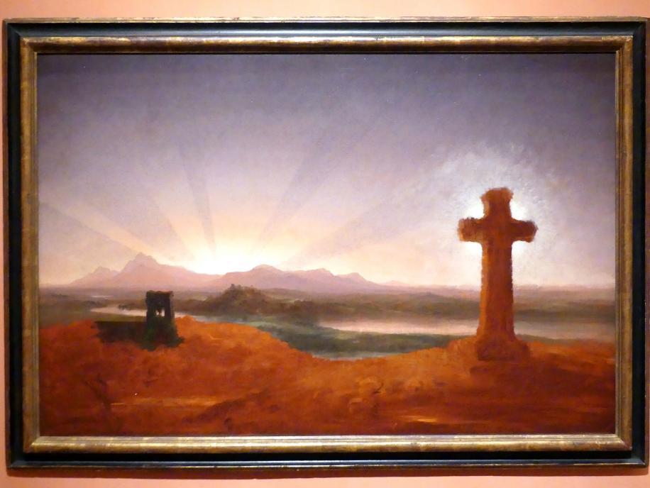 Thomas Cole: Kreuz bei Sonnenuntergang, um 1848