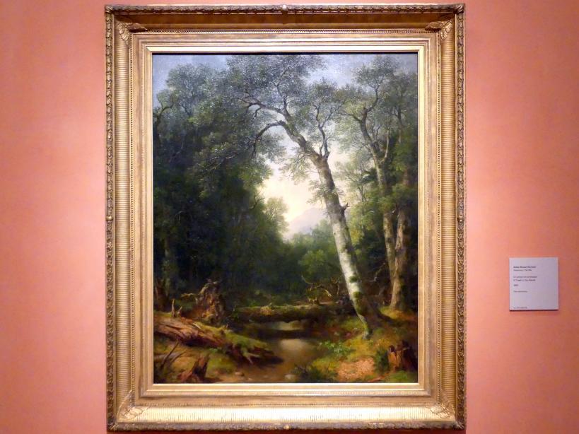 Asher Brown Durand: Ein Wasserlauf im Wald, 1865