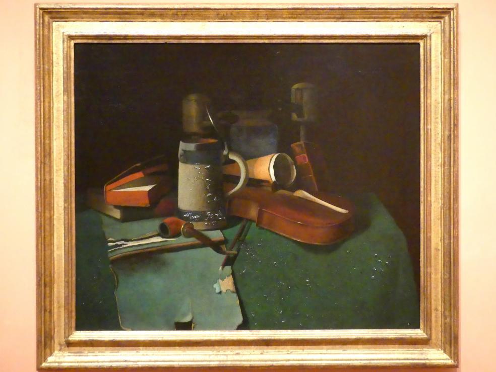 John Frederick Peto: Bücher, Krug, Pfeife und Violine, um 1880