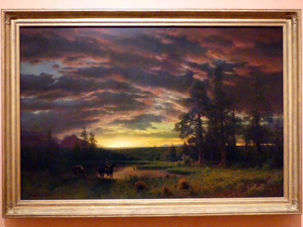 Albert Bierstadt: Abends in der Prärie, um 1870