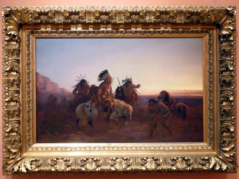 Charles Wimar: Die verlorene Spur, um 1856