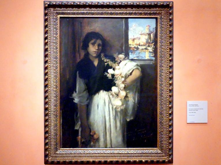 John Singer Sargent: Venezianischer Zwiebelverkäufer, um 1880 - 1882