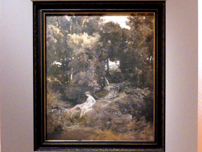 Arnold Böcklin: Eine Nymphe an der Quelle, 1855