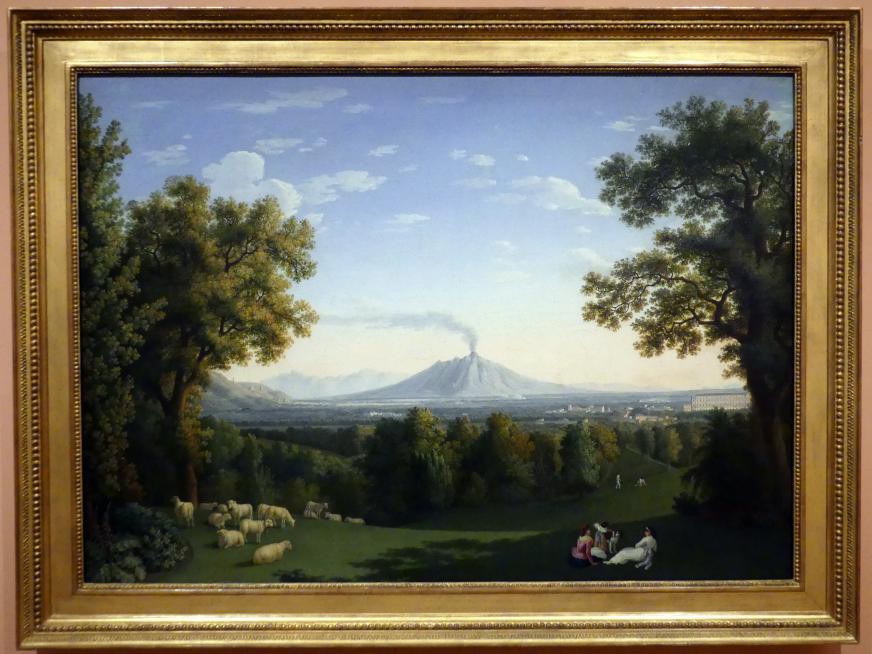 Jakob Philipp Hackert: Landschaft mit Palast in Caserta und Vesuv, 1793