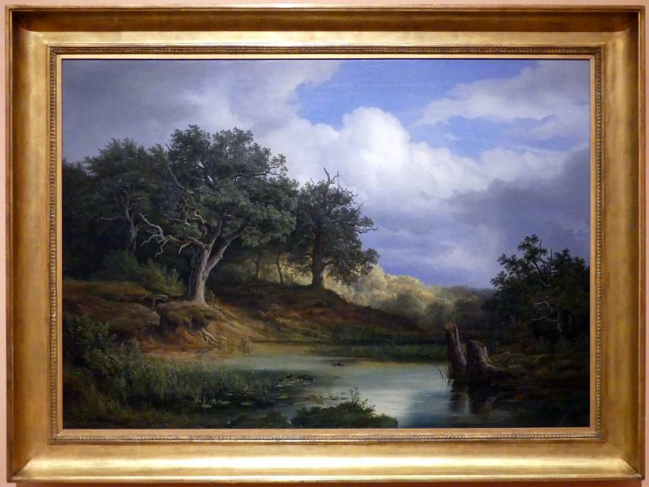 Christian Ernst Bernhard Morgenstern: Eichen am Wasser, 1832