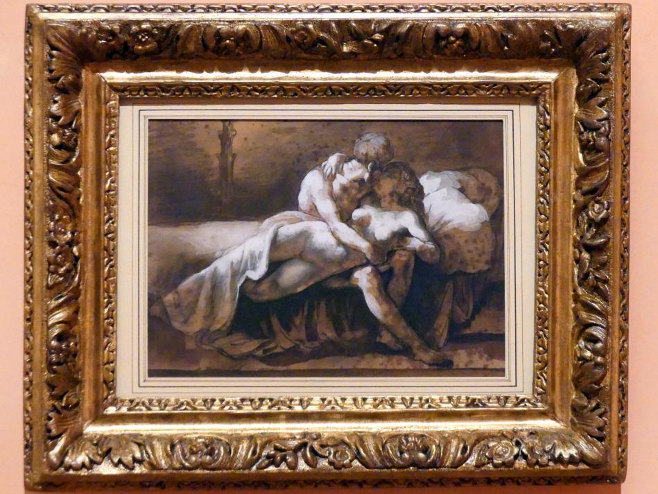 Théodore Géricault: Der Kuss, um 1816 - 1817