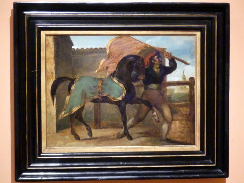 Théodore Géricault: Pferderennen, um 1817