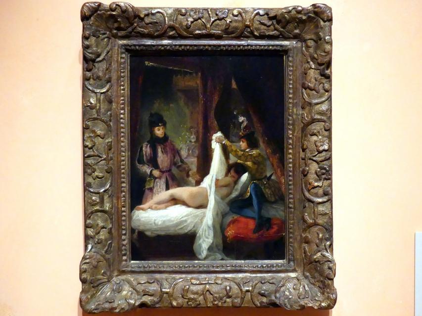 Eugène Delacroix: Der Herzog von Orléans zeigt seine Liebhaberin, um 1825 - 1826