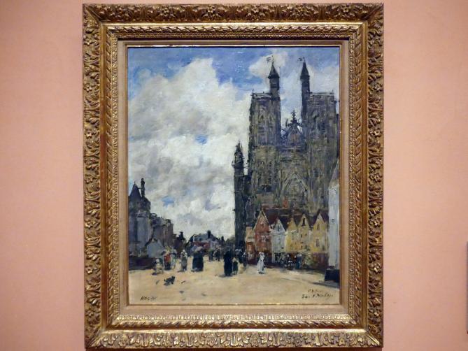 Eugène Boudin: Kirchplatz vor Saint-Vulfran d'Abbeville, 1884