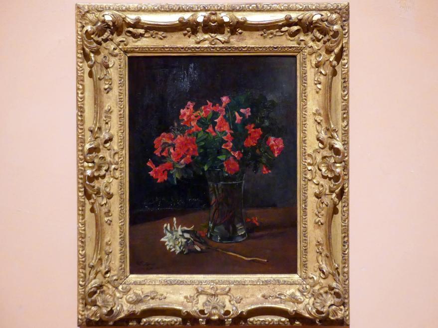 Wilhelm Trübner: Blumenvase, Undatiert