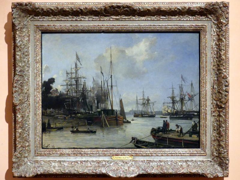 Johan Barthold Jongkind: Blick auf den Hafen von Rotterdam, 1856