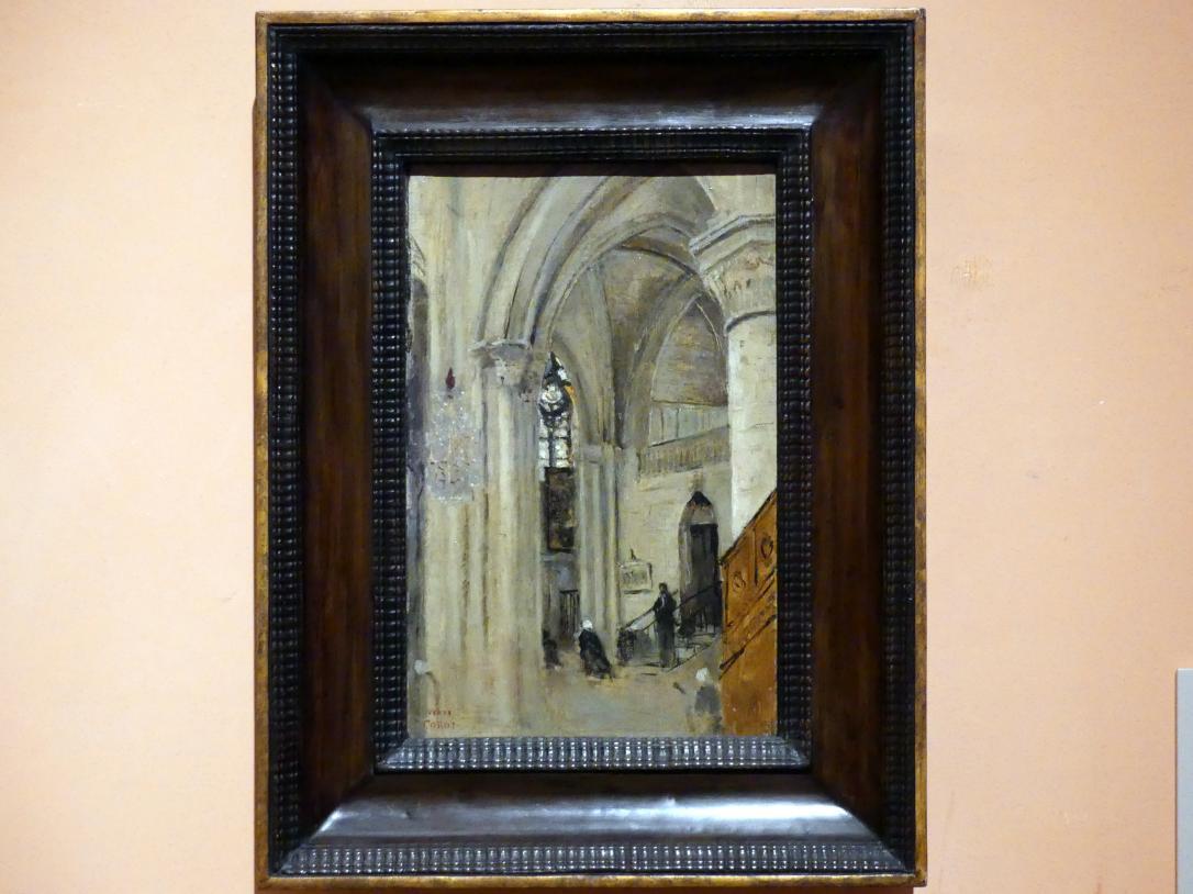 Jean-Baptiste Camille Corot: Interieur der Kirche in Mantes-la-Jolie, 1865 - 1870