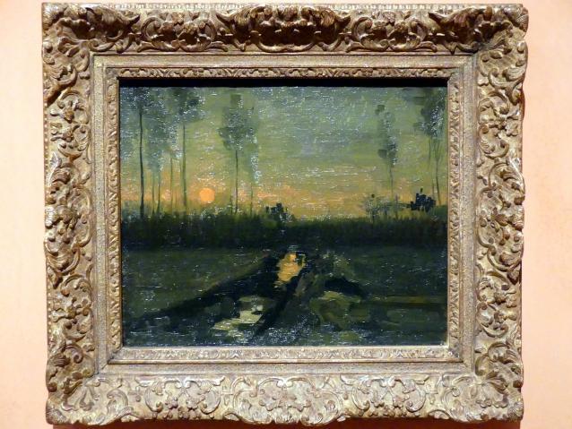 Vincent van Gogh: Abendlandschaft, 1885