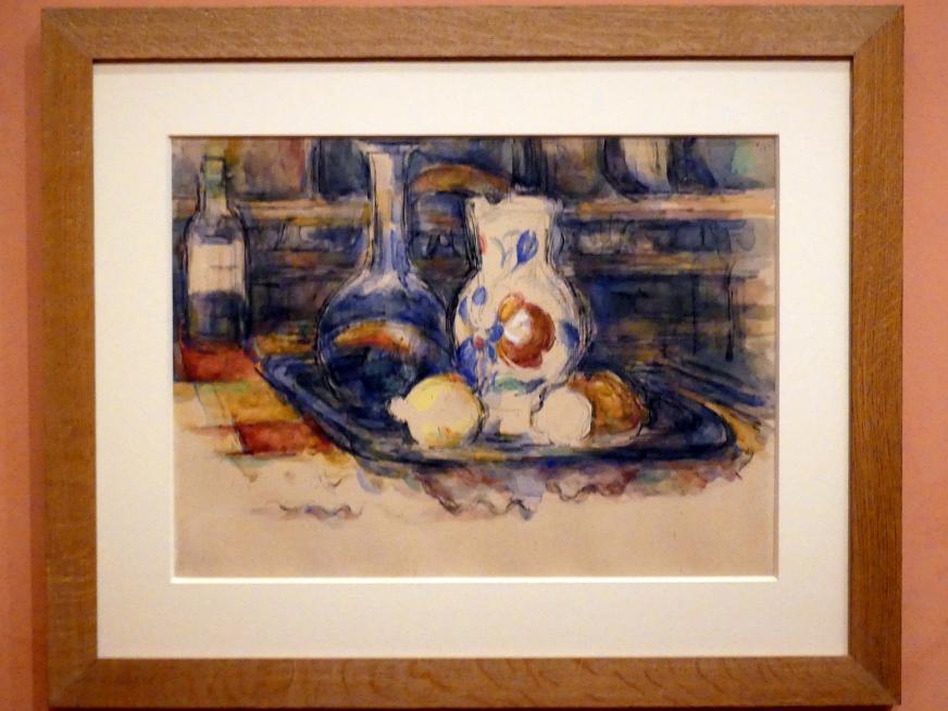 Paul Cézanne: Flasche, Karaffe, Krug, Zitronen, 1902 - 1906