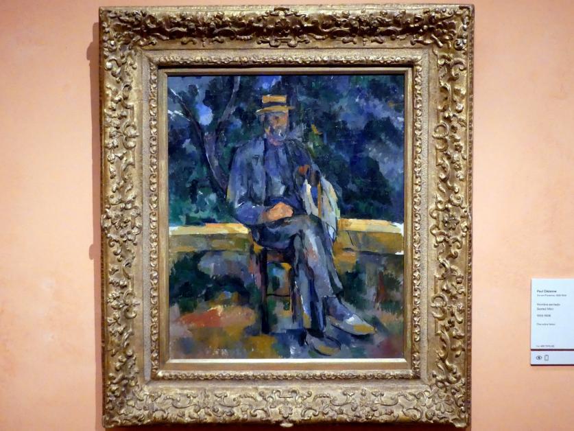 Paul Cézanne: Sitzender Mann, 1905 - 1906