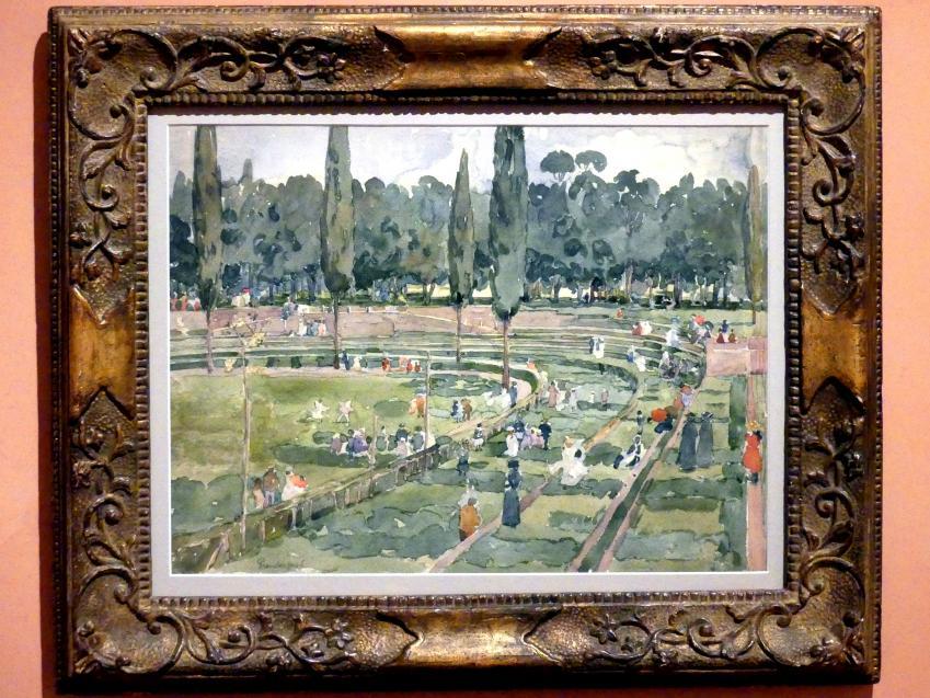 Maurice Brazil Prendergast: Die Rennbahn (Piazza Siena, Garten Borghese, Rom), 1898