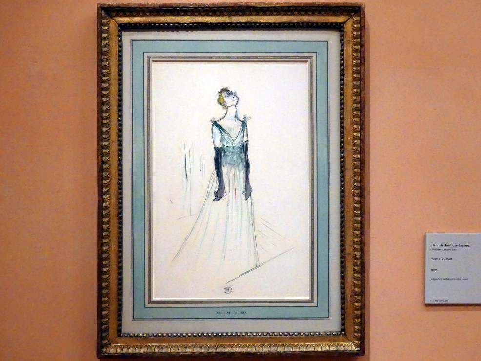 Henri de Toulouse-Lautrec: Yvette Guilbert, 1893