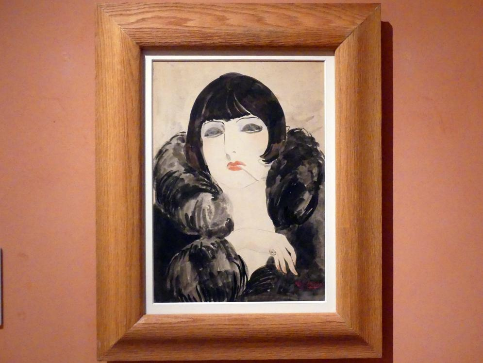 Kees van Dongen: Porträt einer Frau mit Zigarette (Kiki de Montparnasse), um 1922 - 1924