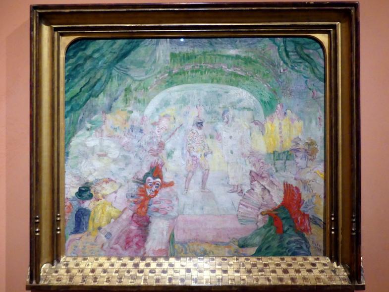 James Ensor: Maskentheater, 1908